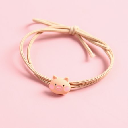 핑크 미니 돼지 머리끈