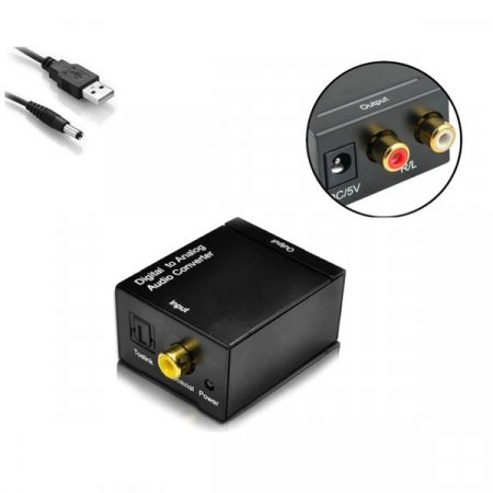 오디오광컨버터 디지털 to 아날로그 RCA변환 SPDIF
