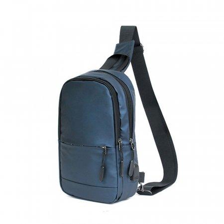 생활방수 편한 크로스 가방 남녀공용 슬링백 네이비
