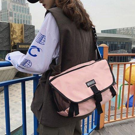 캐주얼한 크로스백 여성 메신저백 스트릿패션 핑크