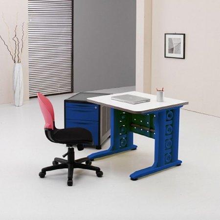 일자형 책상 800 사무 학생 컴퓨터 화이트.네이비