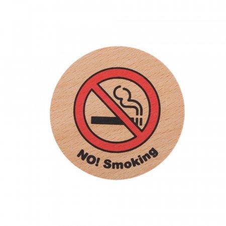 NOSmoking 우드 65OZ05 안내판 흡연금지 금연 경고 O