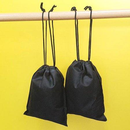 부직포 가방 블랙 소