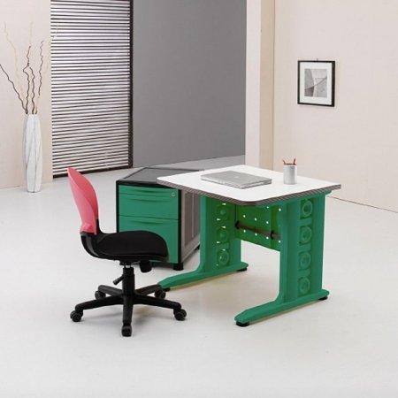 일자형 책상 800 서재 사무 학생 컴퓨터 화이트.그린