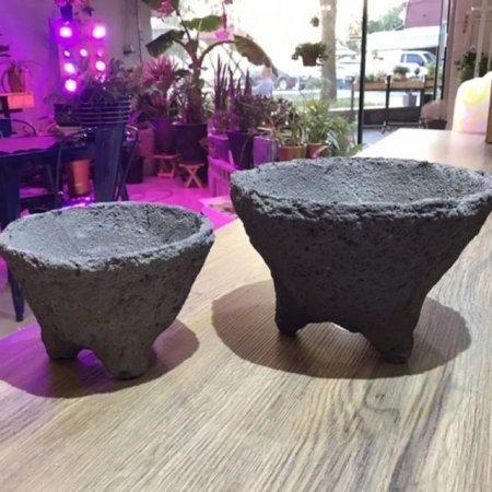화산석 화분 볼형(중) 19x13cm