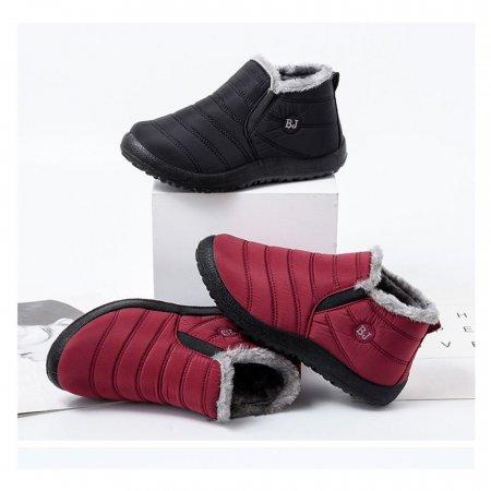 여성용 발목 패딩부츠 캐쥬얼 따뜻한 안감 발목단화