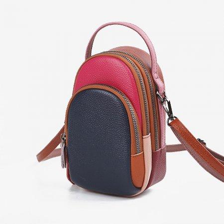 예쁜 가방 네이비- 여성 실용 천연 가죽 크로스 패션