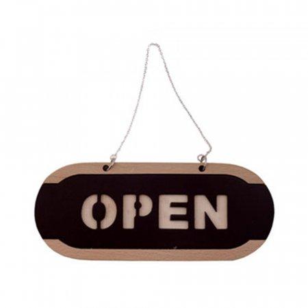 OPEN/CLOSED 우드 67OZ01 안내판 출입문 도어사인 O