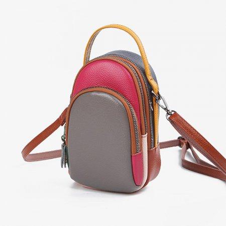 예쁜 가방 그레이- 여성 실용 천연 가죽 크로스 패션