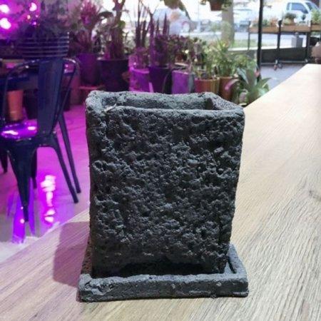 화산석 화분 정사각 14x14x16cm