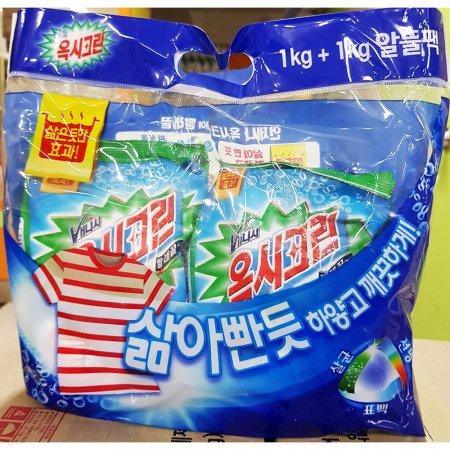 가정용 업소용 세탁 세제 옥시크린 리필 1+1kg X6개