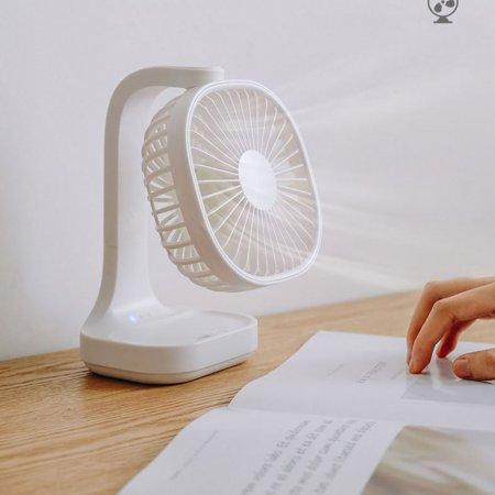 사무실 공부방 화장대 각도 조절 충전용 선풍기