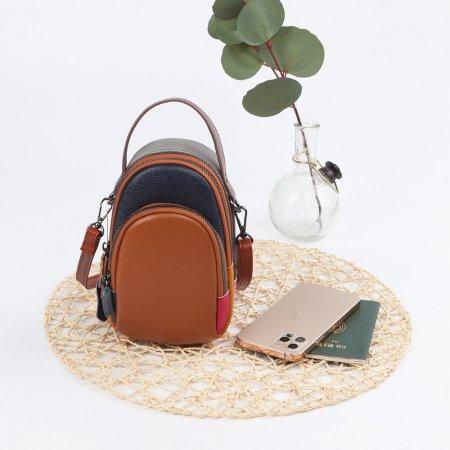 예쁜 가방 탄- 여성 실용 천연 가죽 크로스 패션