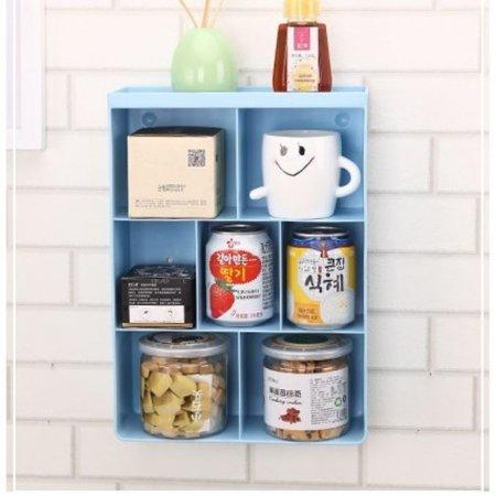 다용도 벽걸이 수납장 수납함 욕실 선반 블루