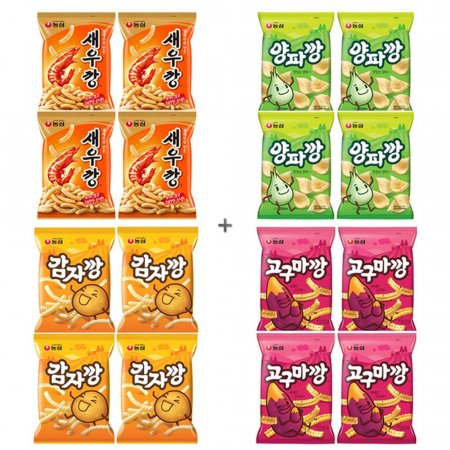 농심 깡시리즈 4x4세트 16봉 새우 양파 감자 고구마