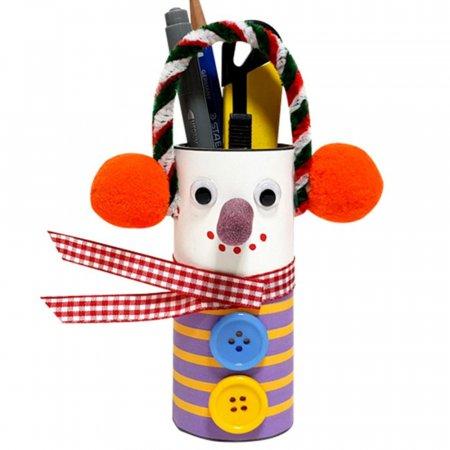 (만들기용품)휴지심 눈사람 연필통 만들기 5개 묶음