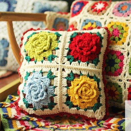 스칸디나비아 뜨개질 미니 쿠션