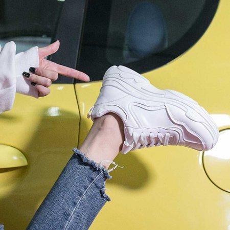 데일리 패션 굽있는 운동화 하얀색 예쁜 신발