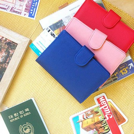 해외 여행 동전 카드 티켓 여권 지갑 케이스 월렛
