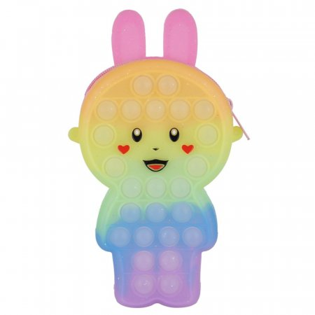 해피톡톡 푸쉬팝 버블 펄 미니 토끼 가방