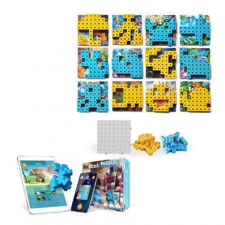 어린이 선물 애니 블럭 퍼즐 챌린저4 블루 옐로우