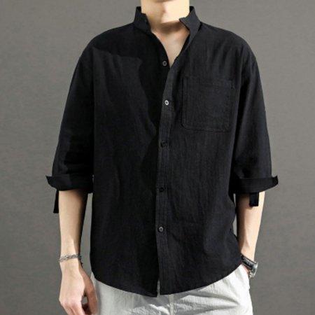 린넨 소재 남자 여름 데일리 패션 시원한 패션 셔츠