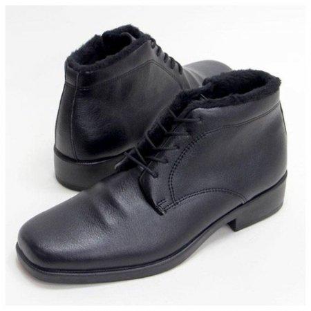 남자 방한화 고급 구두 슈즈 기모 겨울 통굽 신발