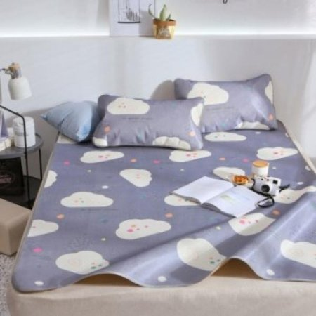 인견 귀여운 침대 베개 커버세트(네이비) (180200cm)