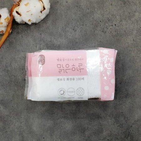 맑은하루 엠보싱 화장솜 100p
