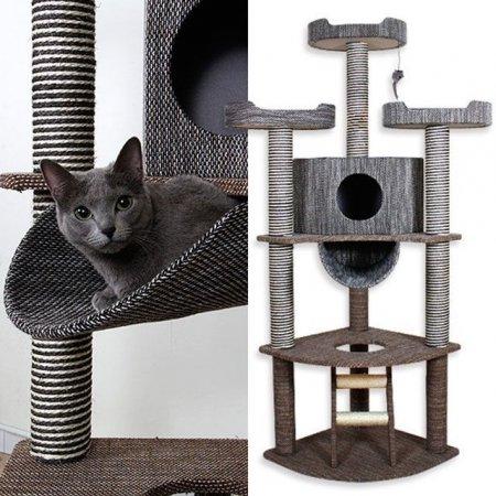 펫모닝 직조 캣 타워 고양이 놀이터 캣 토이 하우스