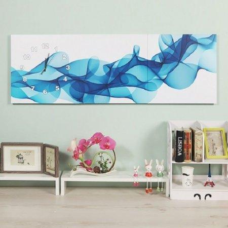 럭셔리한 인테리어 블루 웨이브 갤러리벽시계