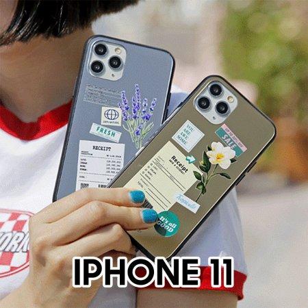 영수증플라워 아이폰11 미러범퍼 케이스