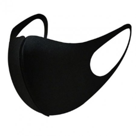 3D입체 패션 블랙 마스크 3개