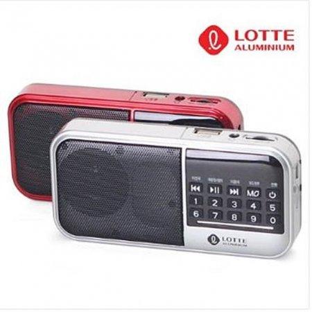 롯데 효도라디오 핑키15 USB TF 라디오 장시간사용