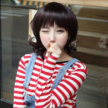 WG-00003 미디엄 샤기도니야 내츄럴 여성통가발