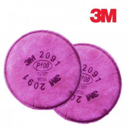 3M 방독마스크 방진필터 2091 1봉 2개입