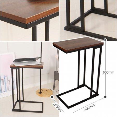 우드스틸 사각 사이드 테이블 다용도 보조 테이블