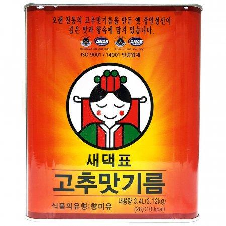 업소용 식당 식자재 재료 새댁표 고추맛기름 3.4L X4