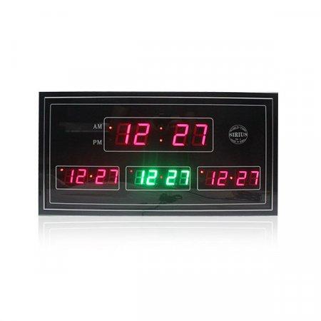 CE 벽걸이 디지털시계 CH-월드4
