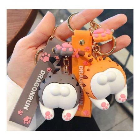 귀여운 고양이 고무 악세사리 키링 열쇠고리