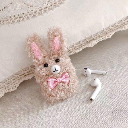 귀여운 털 리본 토끼 에어팟 1세대 2세대 케이스