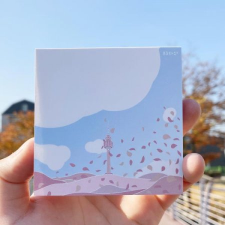 0.7M 대구여행 굿즈 83타워 벚꽃 축제 메모지