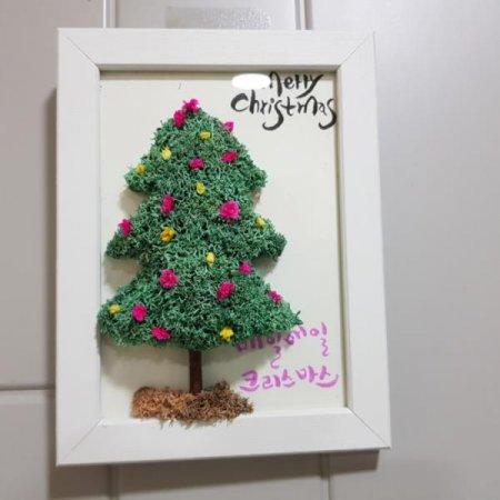 크리스마스  트리 액자
