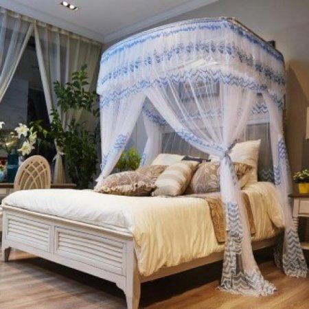 캐노피 잡화 침대 데이스윗 모기장(180x200cm)(블루)