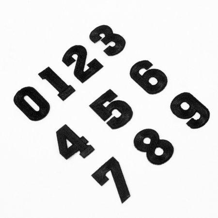 이롬드리 숫자 열접착 와펜 10종 1세트 블랙