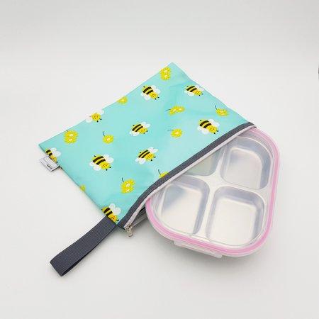 꿀벌대모험 핑크 4구 4절 다이어트 찬합 도시락 식판