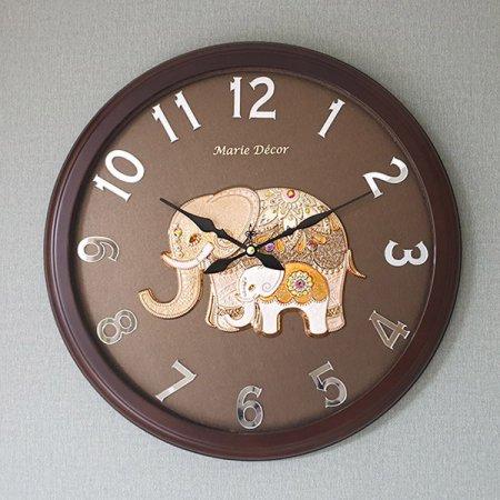 미러넘버 벽시계 파인보석 코끼리 골드 벽시계