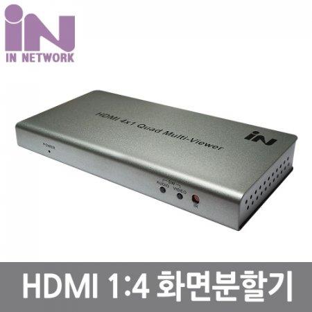 HDMI 멀티뷰 화면분할 4X1 1080P 60Hz