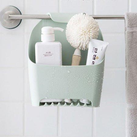 수납 걸이 용품 다용도 욕실 정리 화장실 선반 그린