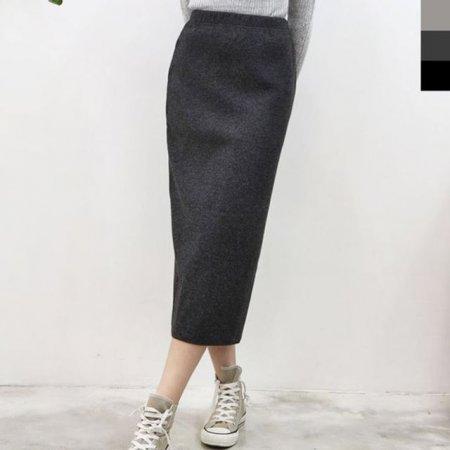 여자 겨울 니트 롱 스커트 치마 라인 H라인 패션